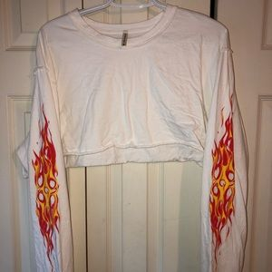 CUTE long sleeve flame crop too from LF